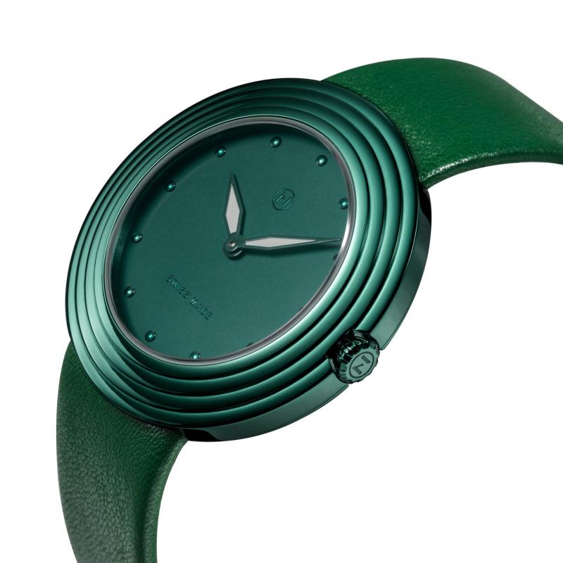 瑞士 NOVE Streamliner 系列 女士石英錶 (40mm綠色) [B011-01]