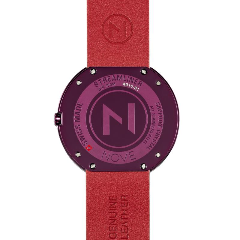 瑞士 NOVE Streamliner 系列 男士石英錶 (46mm 白粉紅色 A016-01)