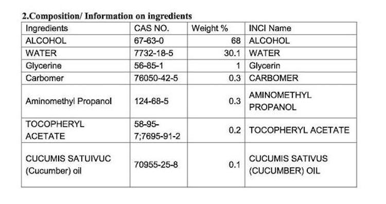 ULTRO CLEAN 消毒酒精搓手液60ml (海洋味)
