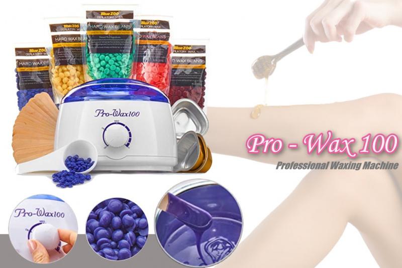 Prowax 100 專業蜜蠟脫毛機套裝- 白色 [連試用裝低溫蠟豆及刮棒]