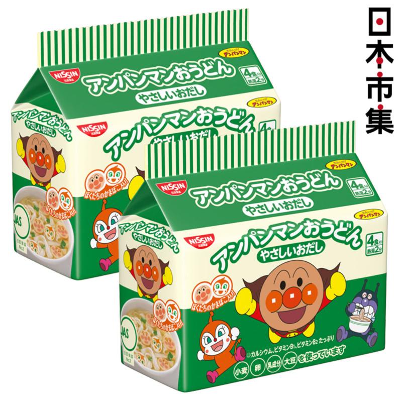 日版日清麵包超人小童點心烏冬麵 4小包 88g (2件裝)【市集世界 - 日本市集】
