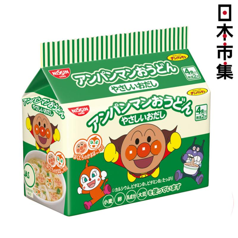 日版日清麵包超人小童點心烏冬麵 4小包 88g【市集世界 - 日本市集】