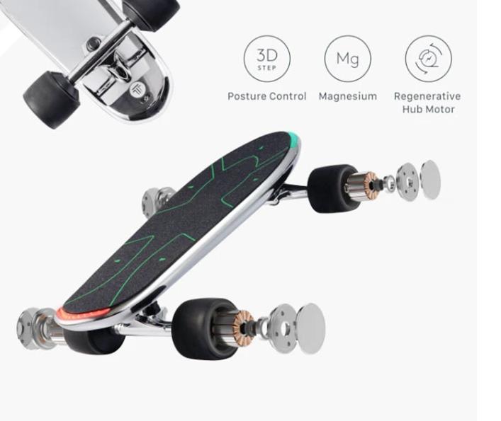 美國 WALNUTT Spectra Silver 體感四輪電動滑板車