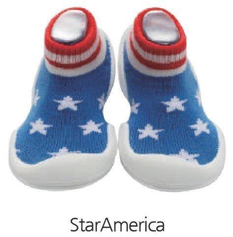 韓國-GGomoosin 嬰幼兒學行鞋 (Star America)