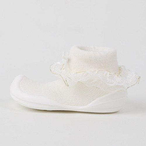 韓國-GGomoosin 嬰幼兒學行鞋 (Princess White)