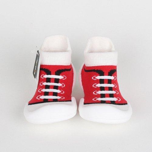 韓國-GGomoosin 嬰幼兒學行鞋 (Canvas Red)