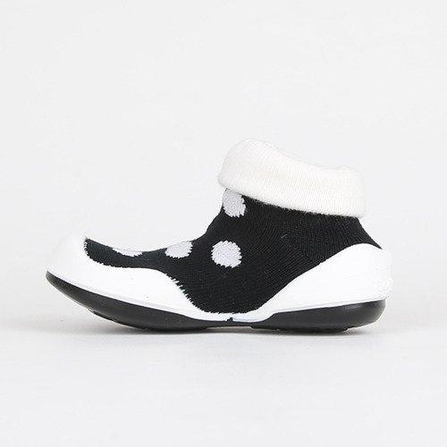 韓國-GGomoosin 嬰幼兒學行鞋 (White Dot)