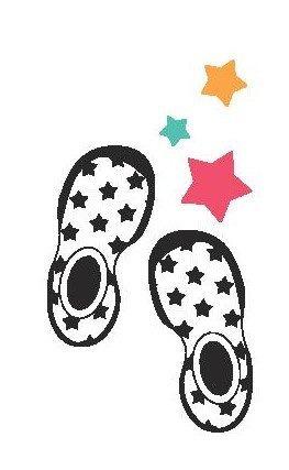 韓國-GGomoosin 嬰幼兒學行鞋 (Black Dot)
