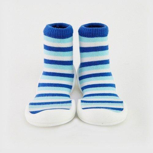 韓國-GGomoosin 嬰幼兒學行鞋 (Blue Ring)