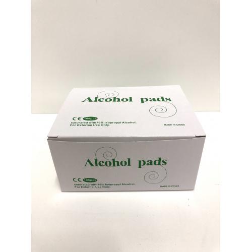 酒精消毒棉片(大張60x60mm) [100片/盒]