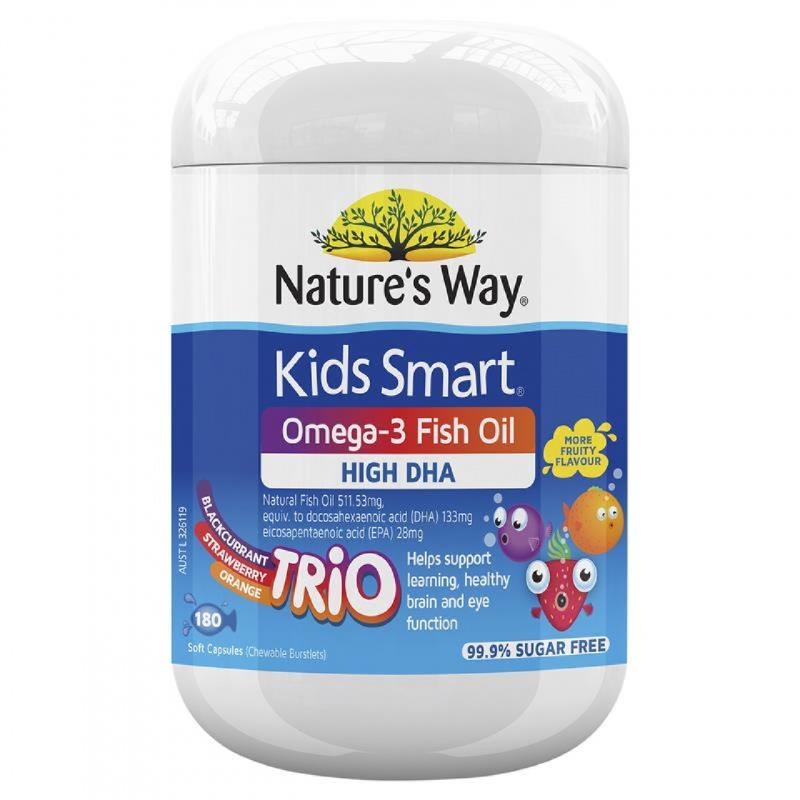 nature's way 佳思敏 kid smart 三合一DHA魚油糖 180粒