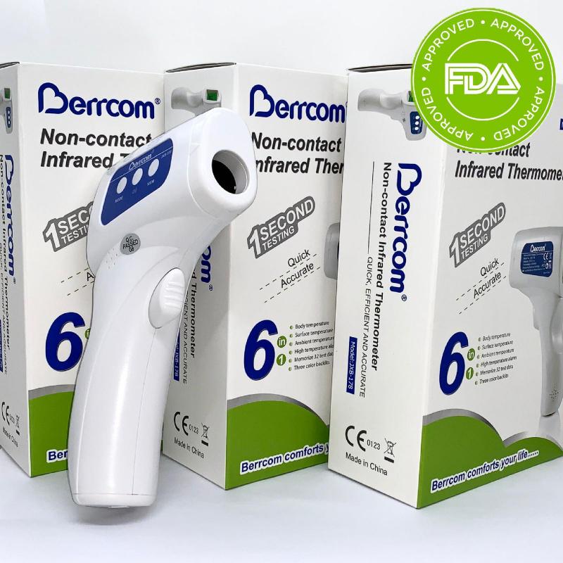 Berrcom 額探式電子紅外線溫度計 + Labo WTC 免沖洗酒精搓手液2支