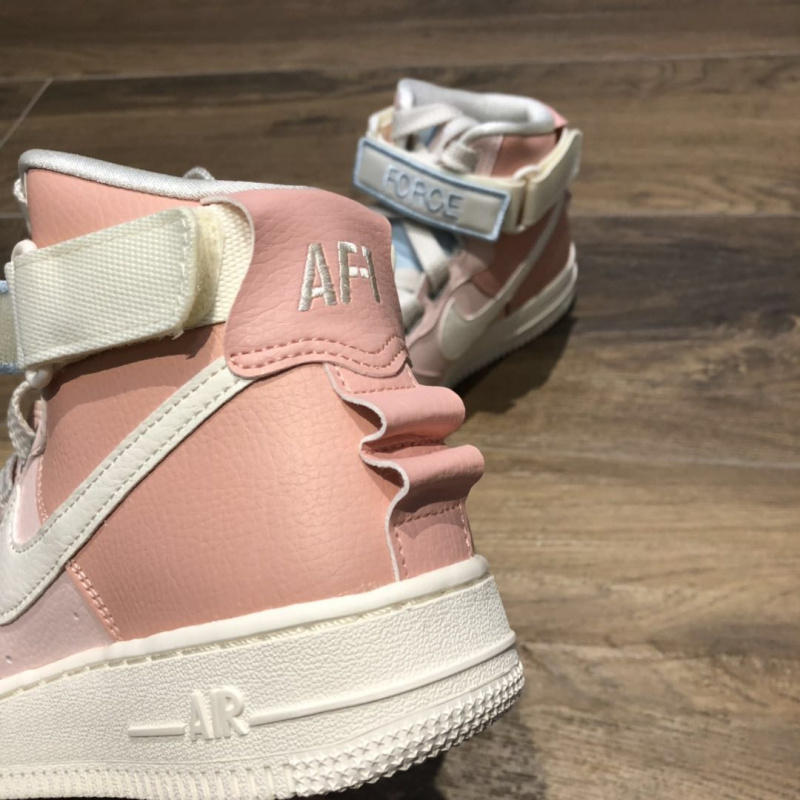 NIKE AIR FORCE 1 HIGH UTILITY WHITE PINK WMNS [女裝鞋]
