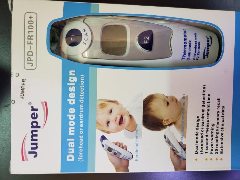 🇺🇸美國直送💥 Jumper Medical - JPD-FR100+ Digital Dual-Mode Infrared Forehead and Ear Thermometer CE. FDA. ISO 3大認證 紅外線 額頭/耳式 2用 人體及物件 温度測量器🎊