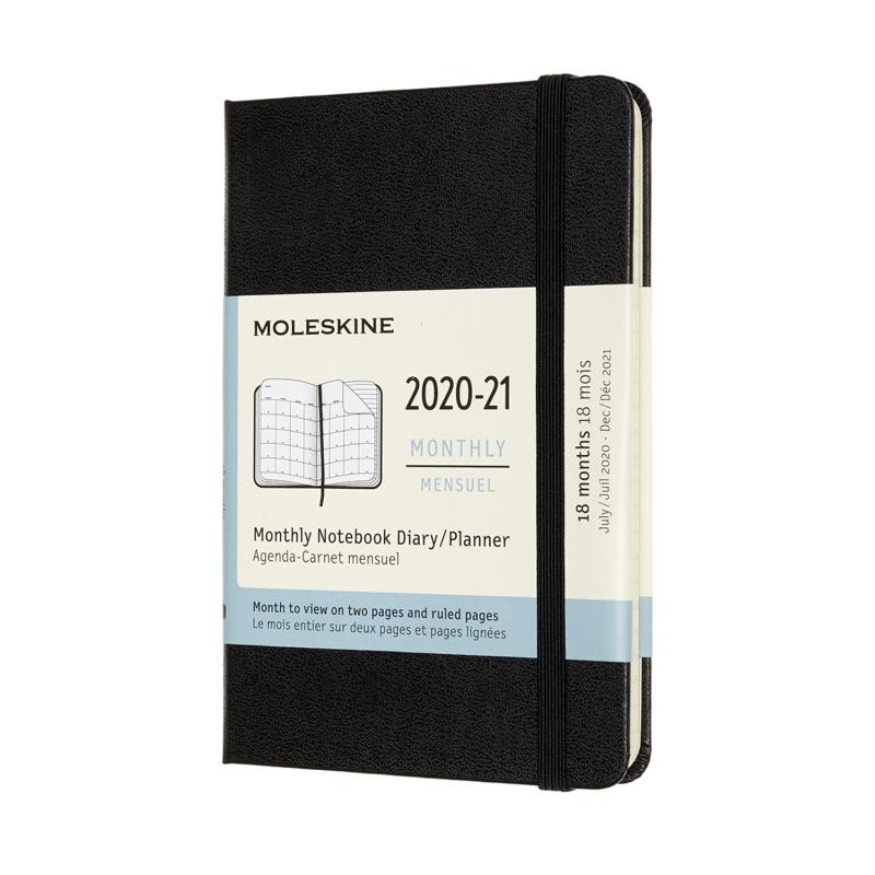 Moleskine 2020-2021 18個月經典月間手帳 黑色 [六款]