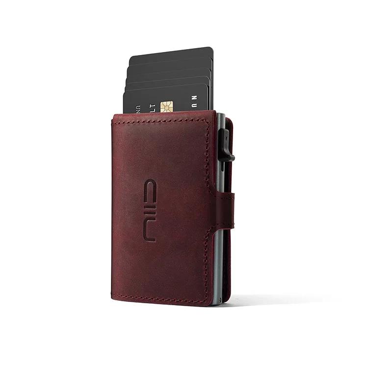 NIID Slide Mini Wallet 防盜刷真皮智慧卡夾