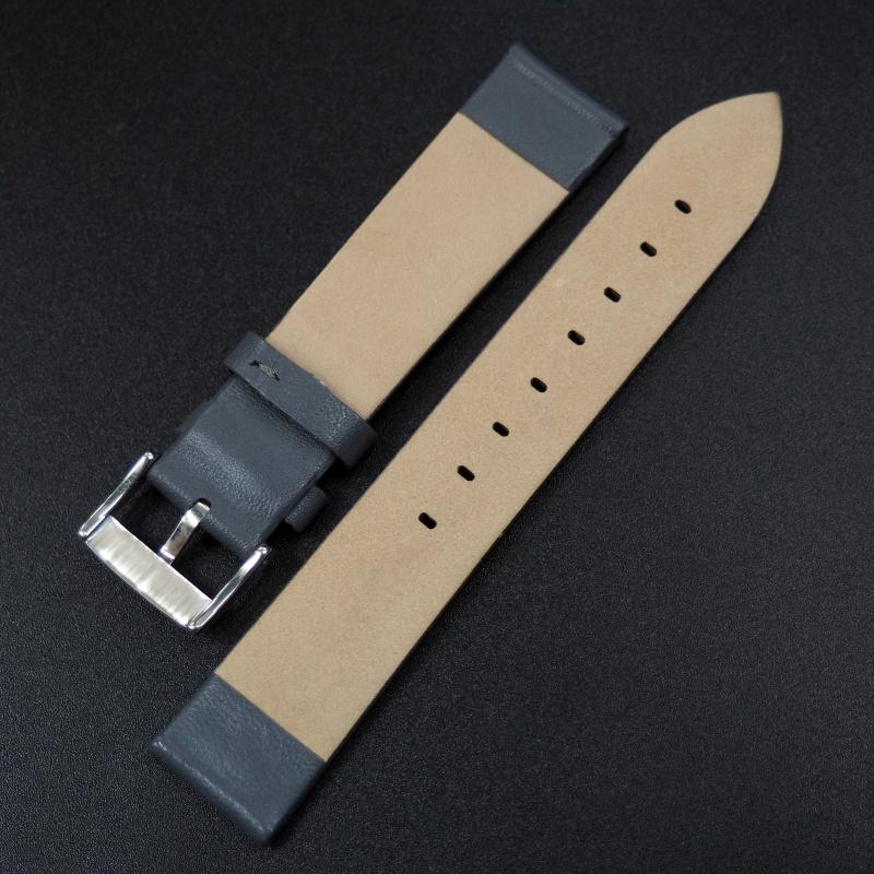 14mm 灰色牛皮錶帶