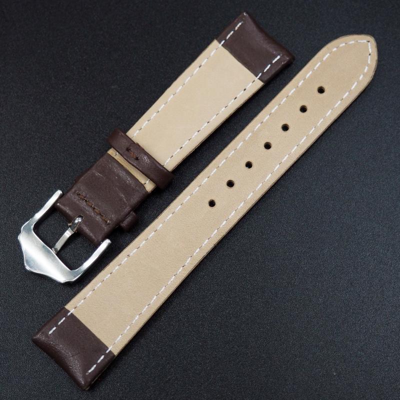 19mm 棕色牛皮錶帶