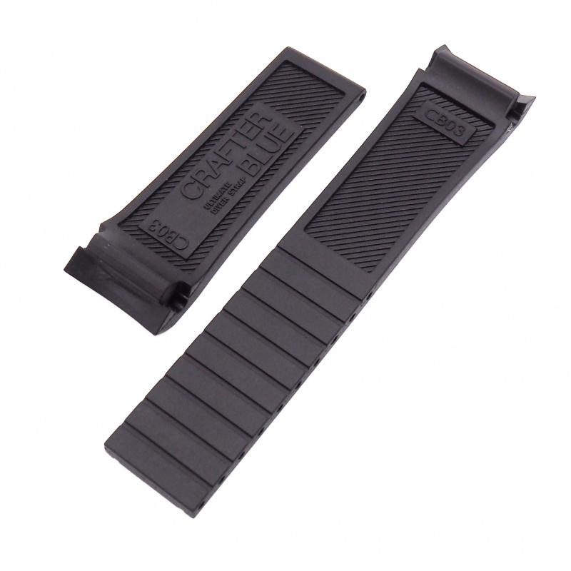 Crafter Blue 20mm 黑色硫化橡膠錶帶 合適Seiko MarineMaster (大MM)