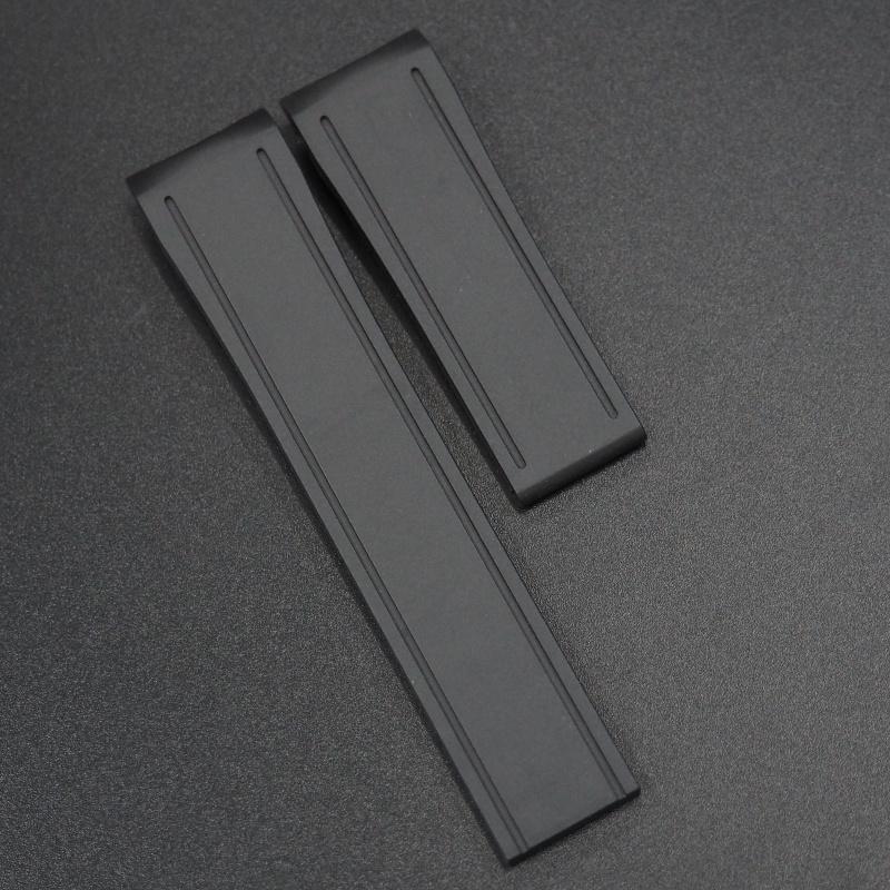 20mm 黑色高級硫化橡膠錶帶 合適Seiko MARINEMASTER
