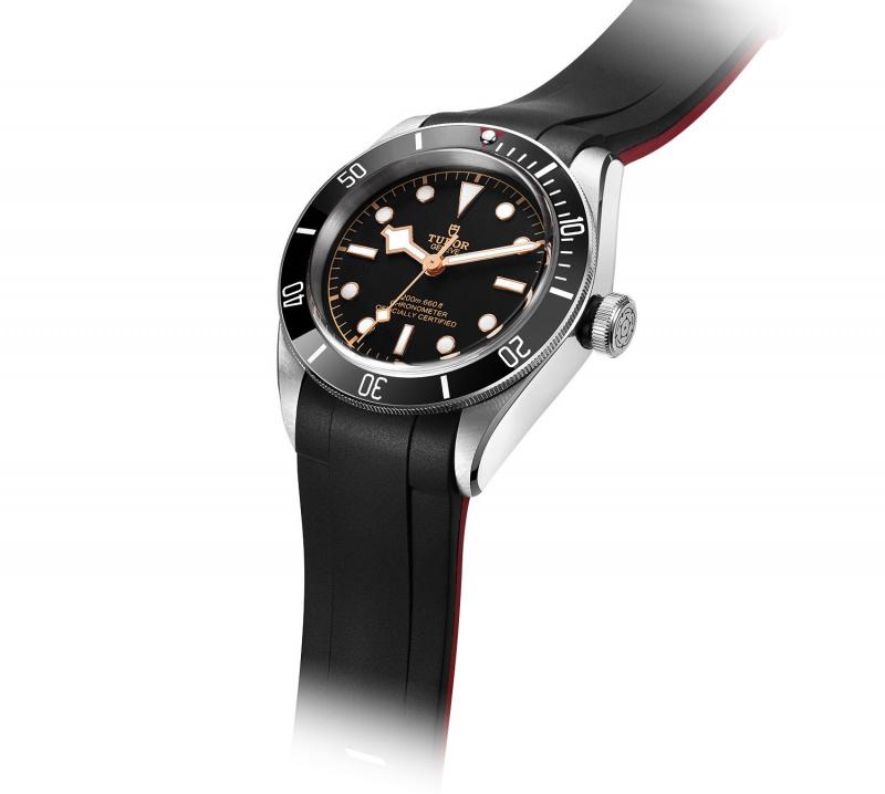 Crafter Blue 22mm 黑紅雙色優質硫化橡膠錶帶 合適 Tudor Black Bay 41mm