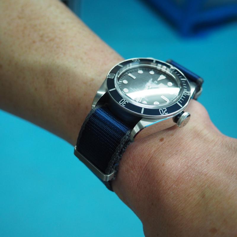 20mm, 22mm Nato 藍色灰邊高質尼龍錶帶
