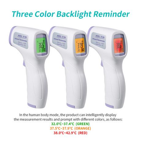 💥非接觸式💥 紅外線 額頭專用 4重國際認證 FDA.CE.FS.ROHS 幼兒~成人通用 Non contact forehead digital LED infrared thermometer IR988