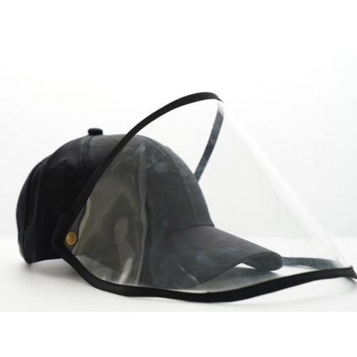 韓國款防飛沫棒球帽(黑色) [2款]