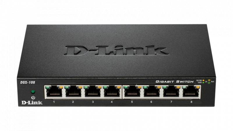 D-Link DGS-108 8 Port Gigabit Switch