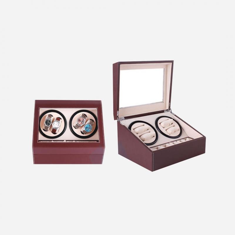 WatchWinder - 雙摩打4錶位旋轉自動上鏈搖錶盒(共10手錶位)