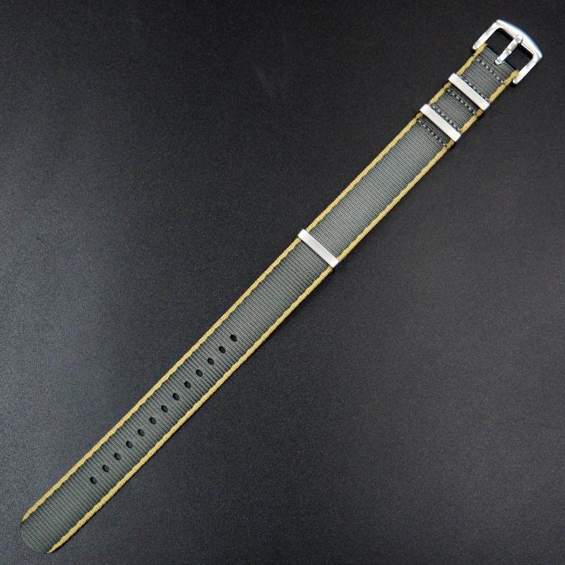 22mm Nato灰/黃色高質尼龍錶帶