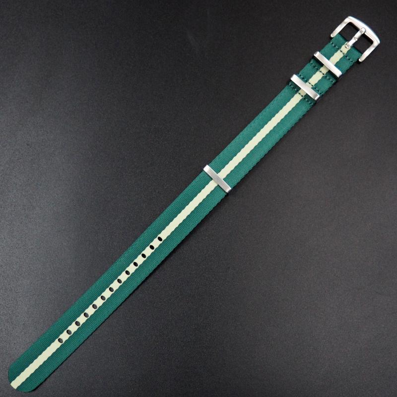 22mm Nato綠/黃色高質尼龍錶帶