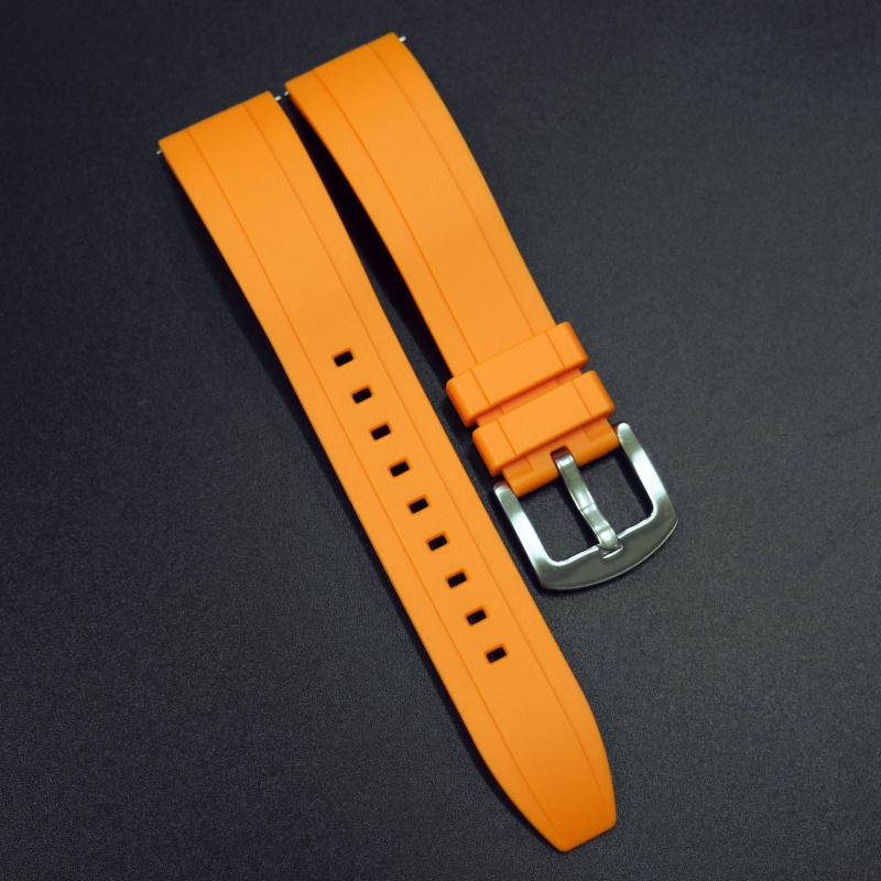 22mm 橙色橡膠錶帶 合適Rolex, Tudor, Omega, IWC, Seiko及Breitling等等