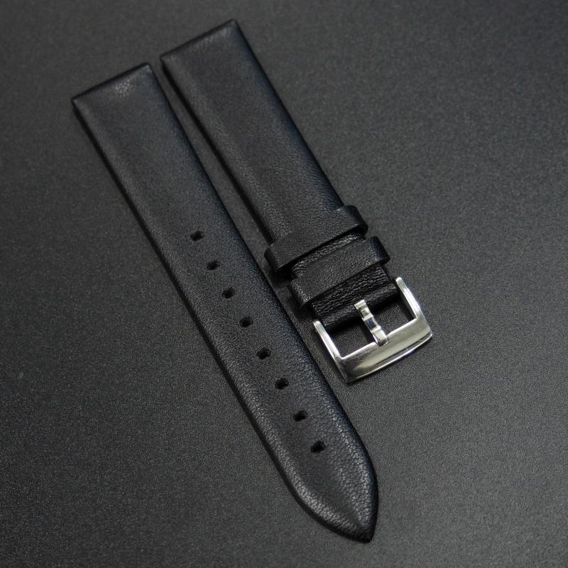 18mm 黑色牛皮錶帶