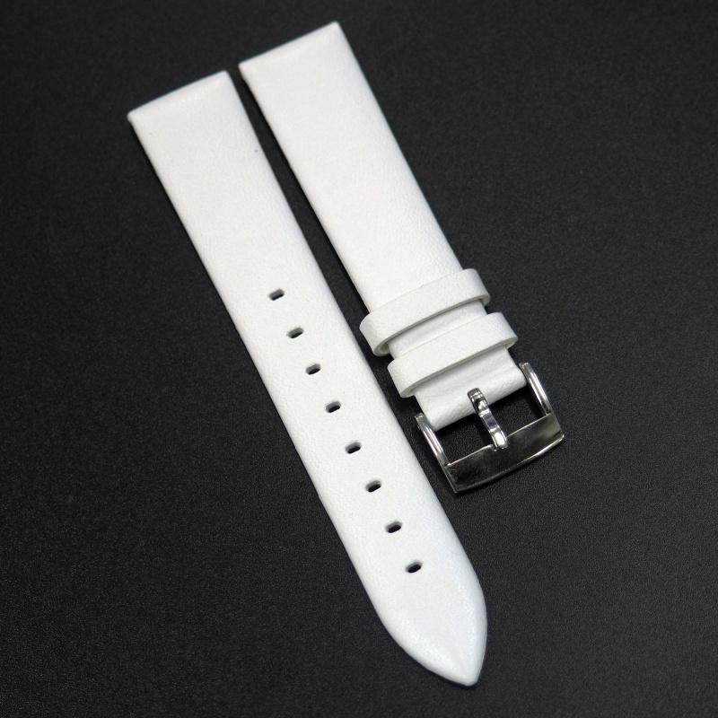 16mm 白色牛皮錶帶