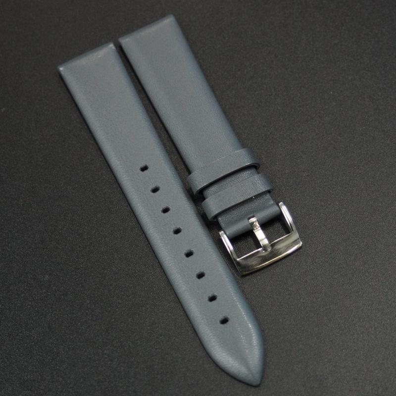 18mm 灰色牛皮錶帶