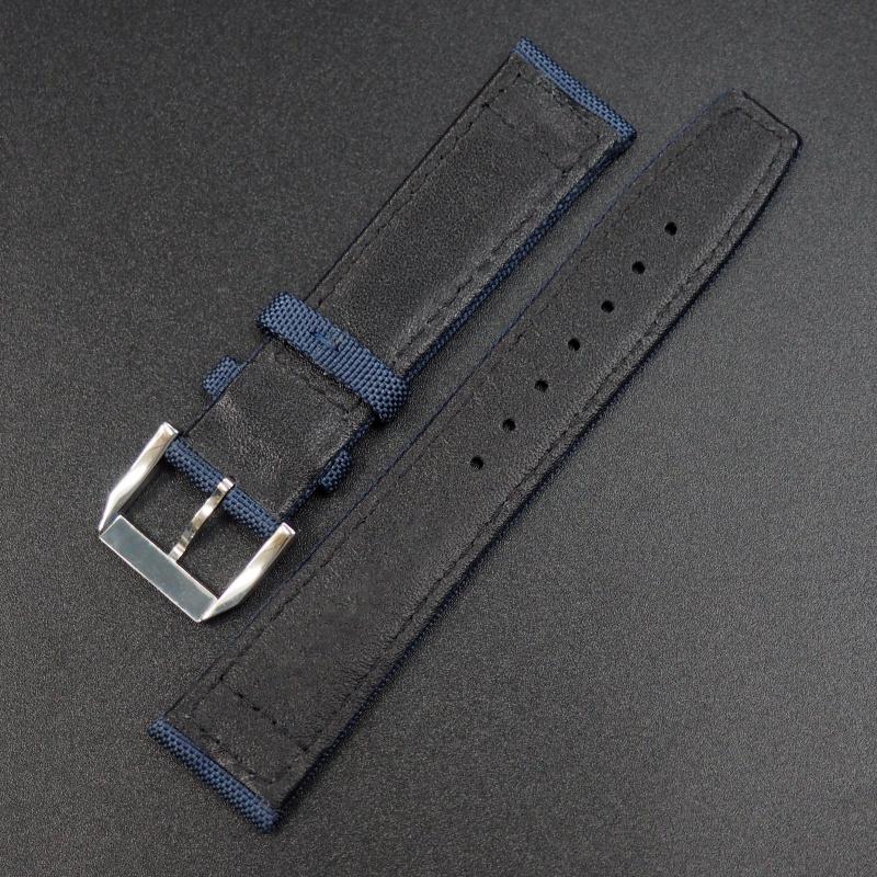 22mm IWC 藍色尼龍錶帶