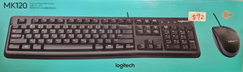 Logitech 有線滑鼠鍵盤組 MK120