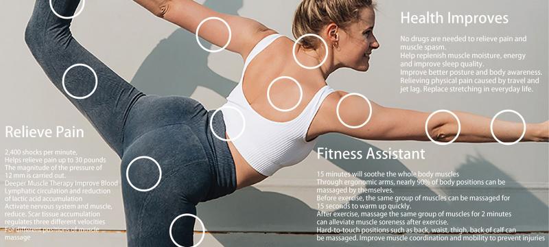 ADVANCE 微電流物理治療肌肉筋膜按摩儀 Microcurrent NMES Vibration Massage Device PT-100