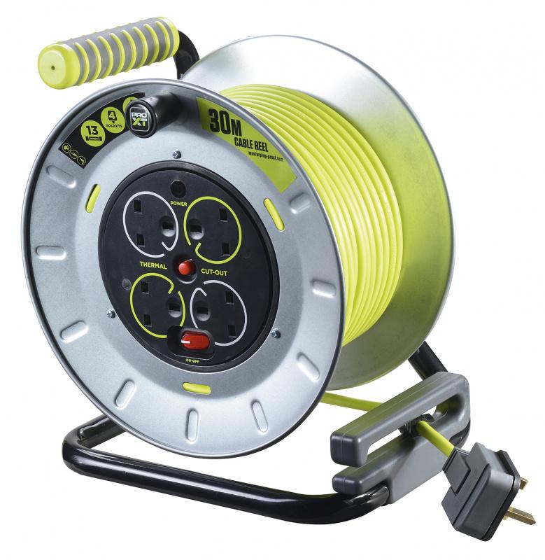 Masterplug PRO-XT 4 X 13A 30米 重型金屬拖轆 OTMU30134SL
