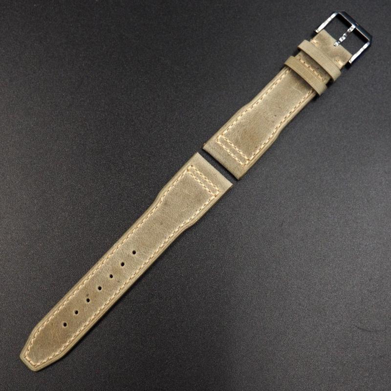 20mm, 21mm, 22mm IWC 亞麻黃色牛皮代用錶帶