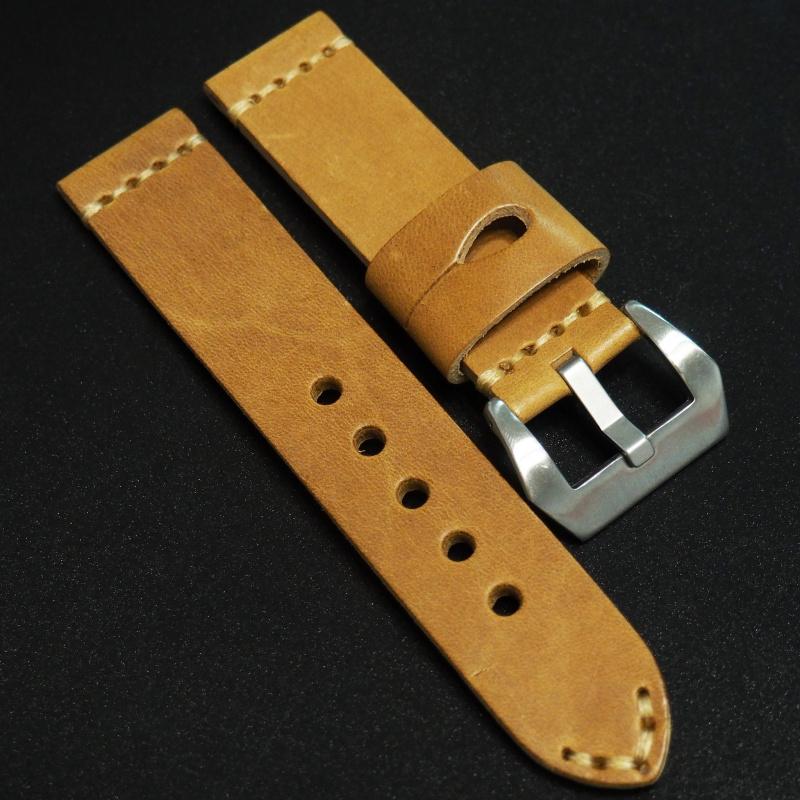 全新22mm 經典橙色意大利牛皮錶帶