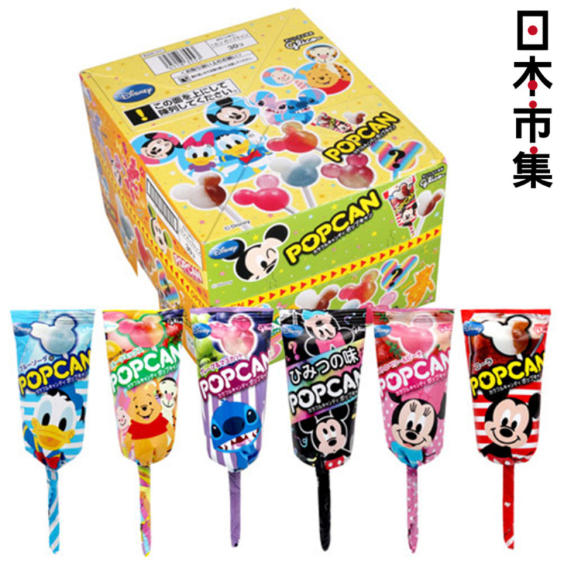 日版 固力果 Glico 迪士尼《米奇造型 波板珠糖》(A款 生果及汽水味) 1盒30支【市集世界 - 日本市集】