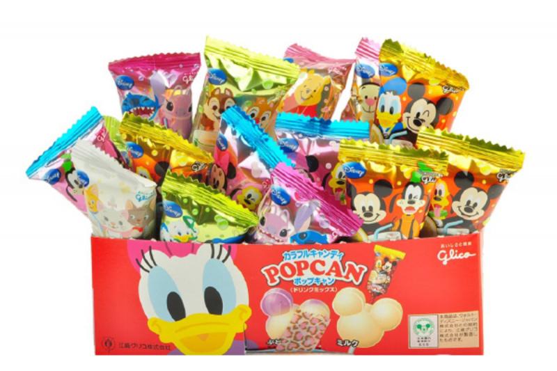 日版 固力果 Glico 迪士尼《米奇造型 波板珠糖》(B款 果汁汽水味) 1盒30支【市集世界 - 日本市集】