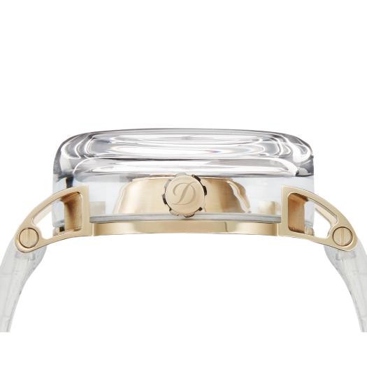 ST Dupont 都彭 官方專賣店 香港行貨 - HYPERDOME WATCH 腕錶 - BE ELEGANT - White, Gold, Leather ( 購買前 請先Whatsapp:94966959查詢庫存 ) model : 065114