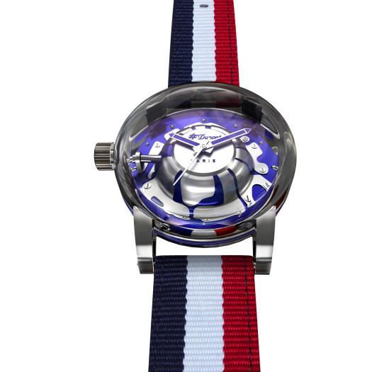 ST Dupont 都彭 官方專賣店 香港行貨 - HYPERDOME WATCH 腕錶 - BE EXCEPTIONAL - Blue, Silver, Fabric ( 購買前 請先Whatsapp:94966959查詢庫存 ) model : 065111