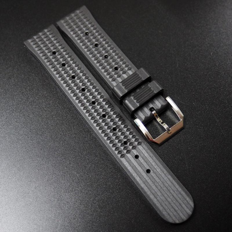 20mm, 22mm Seiko 黑色優質橡膠代用錶帶