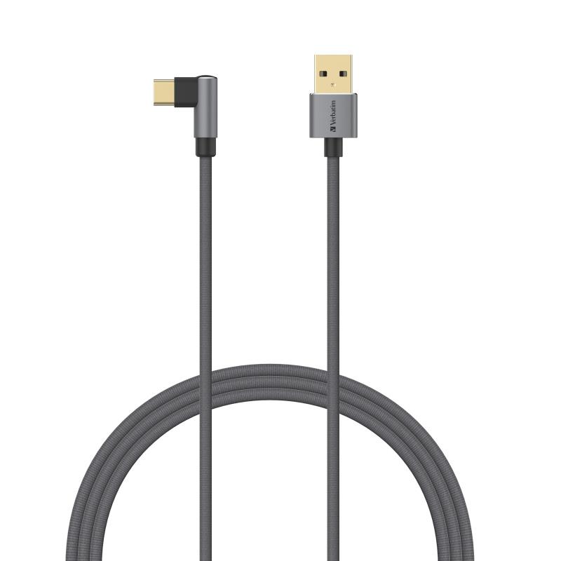 L-Shaped Type C to USB-A 傳輸充電線[120cm]
