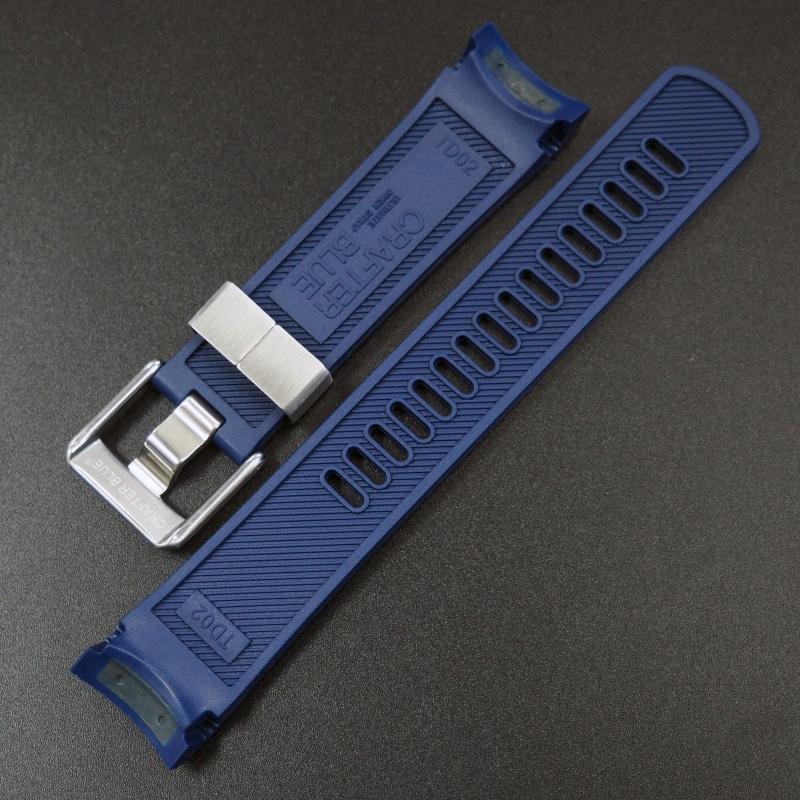 22mm 品藍色優質硫化橡膠錶帶 適合Tudor Pelagos Series