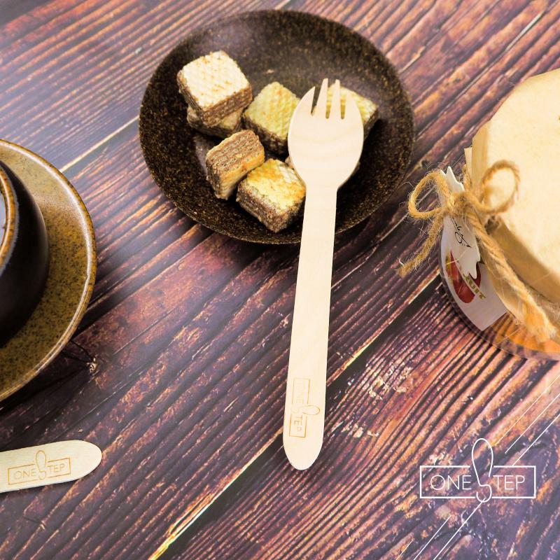 OneSTEP 可降解木製餐具 (100支/包)